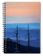 Smokey Mountain Sunset As Seen From Clingman's Dome Spiral Notebook