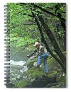 Smoky Mountain Angler Spiral Notebook