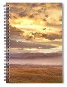 Smoky Sunset Over Boulder Colorado  Spiral Notebook