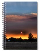 Smoky Sunset Wide Angle 08 27 12 Spiral Notebook