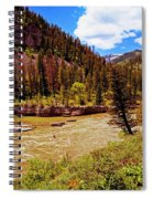 Snake River And Kayaker Spiral Notebook