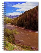 Snake River And Rafters Spiral Notebook