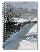 Snow Above Barbondale - Barbon Spiral Notebook