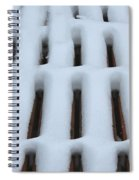 Snow Abstract 4 Spiral Notebook