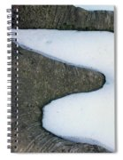Snow Abstract Spiral Notebook