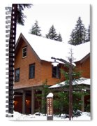 Snow Atop The Inn At Longmire Spiral Notebook
