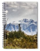 Snow Atop The Superstitions Spiral Notebook