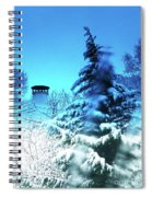 Snow Bow Spiral Notebook