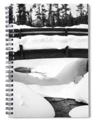 Snow Bridge In Canadian Rockies Spiral Notebook