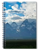 Snow Capped Teton Mountains Spiral Notebook
