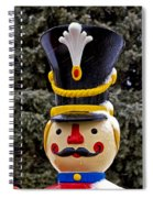 Snow Coverd Toy Soldier Spiral Notebook