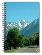 Snow Covered Pass Ahead Spiral Notebook