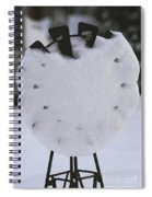 Snow Covered Windmill Spiral Notebook