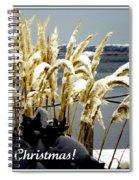 Snow Dust Christmas Card Spiral Notebook