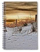 Snow Fence On Horizon Spiral Notebook