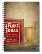 Snow Flake Soda Crackers Spiral Notebook