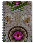 Snow Flowers And Orchids In Heavenly Wisdom Spiral Notebook
