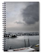 snow in port mahon - A very rare image of a mediterranean villa sided to sea covered of snow Spiral Notebook