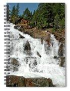 Snow Melt Glen Alpine Falls Spiral Notebook