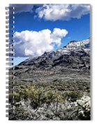 Snow On The Superstitions  Spiral Notebook