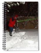 Snow Researcher Spiral Notebook