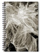 Snow Storm Abstract Spiral Notebook