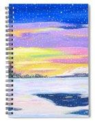 Snow Storm Spiral Notebook