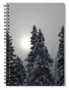 Snow Sun Spiral Notebook