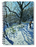 Snowball Fight Spiral Notebook
