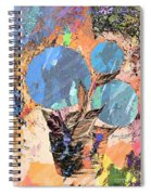 Snowball Plant Abstract 3 Spiral Notebook