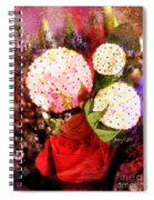 Snowball Plant Abstract 4 Spiral Notebook