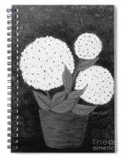 Snowball Plant B W Spiral Notebook