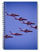 Snowbird V Formation Spiral Notebook
