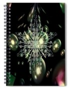 Snowflake Bubble Glass Spiral Notebook