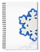 Snowflake With Reflection Spiral Notebook