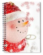 Snowman With Snowflakes  Spiral Notebook