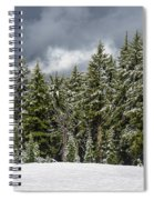 Snowstorm In The Cascades Spiral Notebook