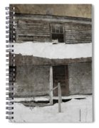 Snowy Abandoned Homestead Porch Spiral Notebook
