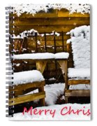 Snowy Coffee Holiday Card Spiral Notebook