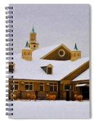 Snowy Day At Erdenheim Farm Spiral Notebook