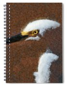 Snowy Egret Profile Painterly Spiral Notebook