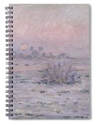 Snowy Landscape At Twilight Spiral Notebook