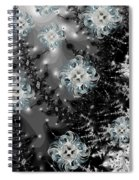 Snowy Night IIi Fractal Spiral Notebook