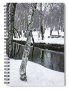 Snowy Park Spiral Notebook