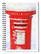 Snowy Pillar Box Spiral Notebook