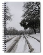 Snowy Road Spiral Notebook