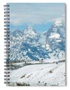 Snowy Tetons Spiral Notebook