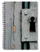 Soft Blue Door And Lock Spiral Notebook