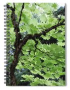 Soft Green Leaves Spiral Notebook