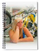 Soft N Sweet Harley Chopper  Spiral Notebook